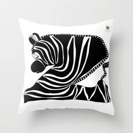 Zzzzing Zebra Throw Pillow