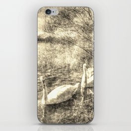 Swan Lake Vintage iPhone Skin
