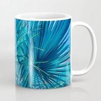 palm tree Mugs featuring Palm Tree by DistinctyDesign