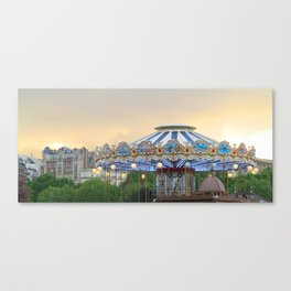 Carrousel at Sunset Canvas Print
