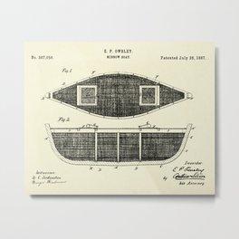 Minnow Boat-1887 Metal Print