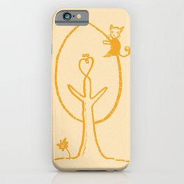 cat the tree hugger iPhone Case