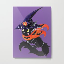 Witch City Kitty Metal Print