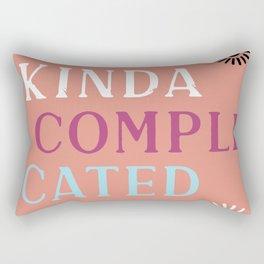 Kinda Complicated Rectangular Pillow