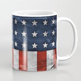 American Flag Stars and Stripes Distressed Grunge 4th. July Coffee Mug