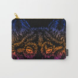 Wolf in the Night Carry-All Pouch