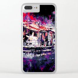 old ship boat wreck ws fn Clear iPhone Case