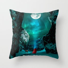 little Red Riding Hood l Caperucita roja Throw Pillow