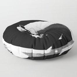 white horse Floor Pillow