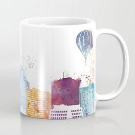 Colorful Albuquerque skyline design Coffee Mug