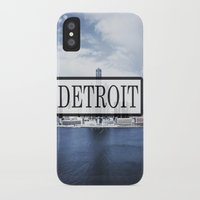 detroit iPhone & iPod Cases featuring Detroit Typography by Evan Smith