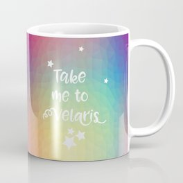 Take Me To Velaris - Night Court Print -A Court of Mist and Fury Rainbow Coffee Mug