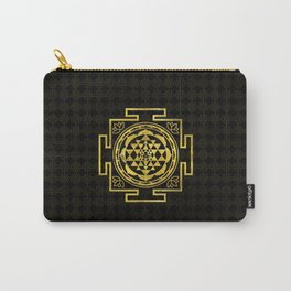 Golden Sri Yantra  / Sri Chakra Carry-All Pouch