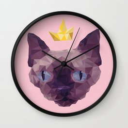 King Cat. Wall Clock