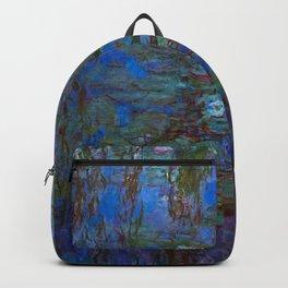 Claude Monet artwork - Blue Water Lilies Backpack