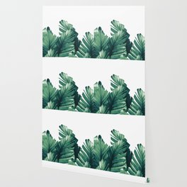 Green Banana Leaves Dream #1 #tropical #decor #art #society6 Wallpaper