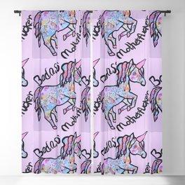 Badass Motherfucker Unicorn Blackout Curtain