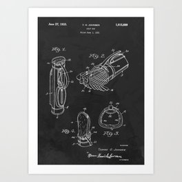 Golf Bag 1933 Patent Art Print