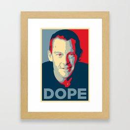 LANCE ARMSTRONG DOPE Framed Art Print