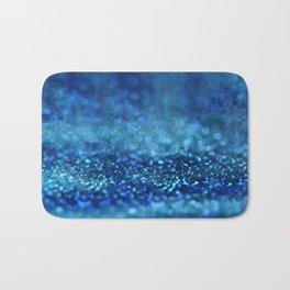 Aqua Glitter effect- Sparkling print in different blue Bath Mat