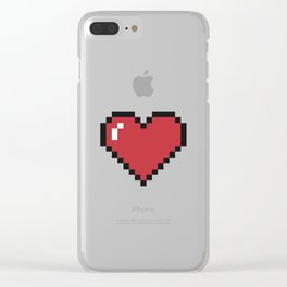 Pixel Hearts Clear iPhone Case
