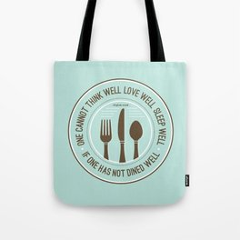 Dined Well Tote Bag