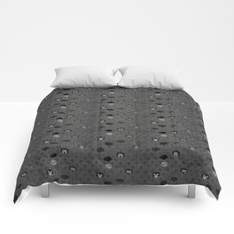 Rock Scales (Black and White) Comforters