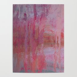 abstract river through the forest Poster