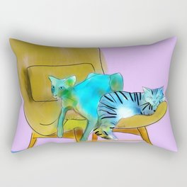 animals in chairs #12 Cats Rectangular Pillow
