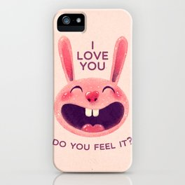 Bunny with love iPhone Case
