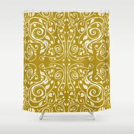 Vines in Yellow Shower Curtain