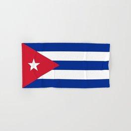 Flag of Cuba -cuban,havana, guevara,che,castro,tropical,central america,spanish,latine Hand & Bath Towel