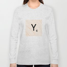 Scrabble Letter Y - Scrabble Art and Apparel Long Sleeve T-shirt