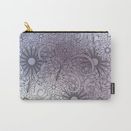 summer boho silver gradient composition with mandalas Carry-All Pouch