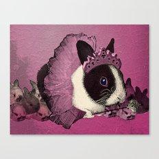 Pink Bunny Princess Print Canvas Print