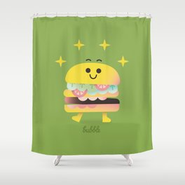 Dancing Burger Shower Curtain