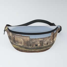 Pompeii with Vesuvius in background - Naples - Travel Photography Italy Fanny Pack