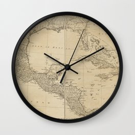 Map of the West Indies by Sayer & Jefferys (circa 1760) Wall Clock