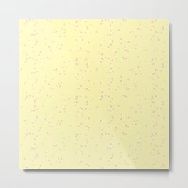 Light Violet Yellow Shambolic Bubbles Metal Print