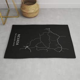 Nevada State Road Map Rug