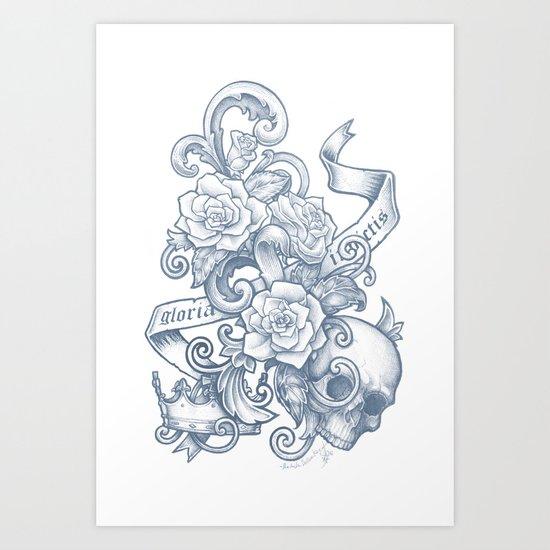 Gloria Invictis Aestus Art Print