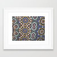 morrocan Framed Art Prints featuring Morrocan Tile by Tyler Frees