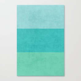 three stripes - teal Canvas Print