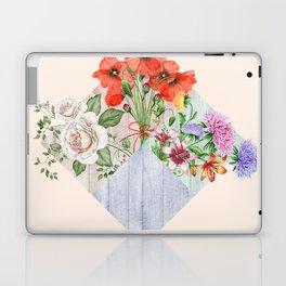 Floral Blocks Laptop & iPad Skin