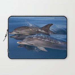 Beautiful Spotted dolphins Stenella frontalis Laptop Sleeve