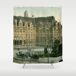 Vintage Liège Belgium governor's palace Shower Curtain