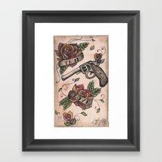 The guns and the roses Framed Art Print