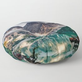 Italy mountains lake Floor Pillow
