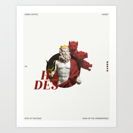 greek deities #3 - hades Art Print