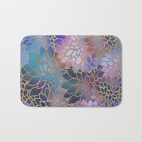 Floral Abstract 5 Bath Mat